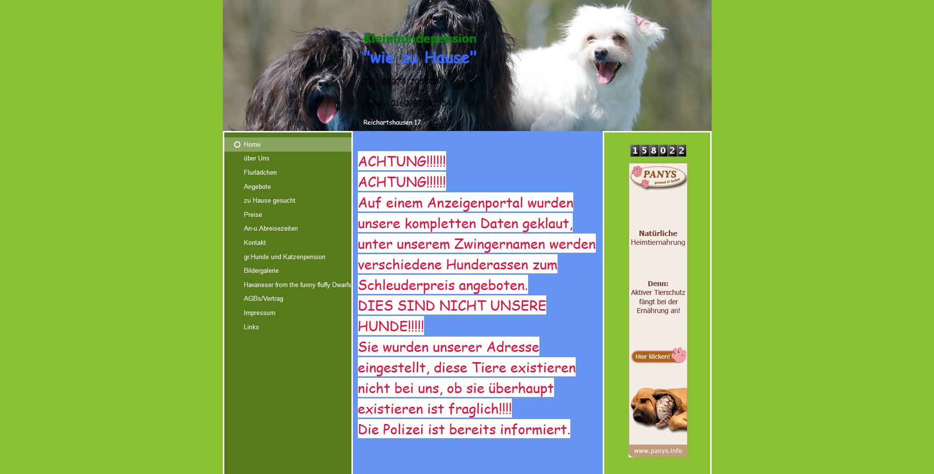 Kleinhundepension wie zu Hause