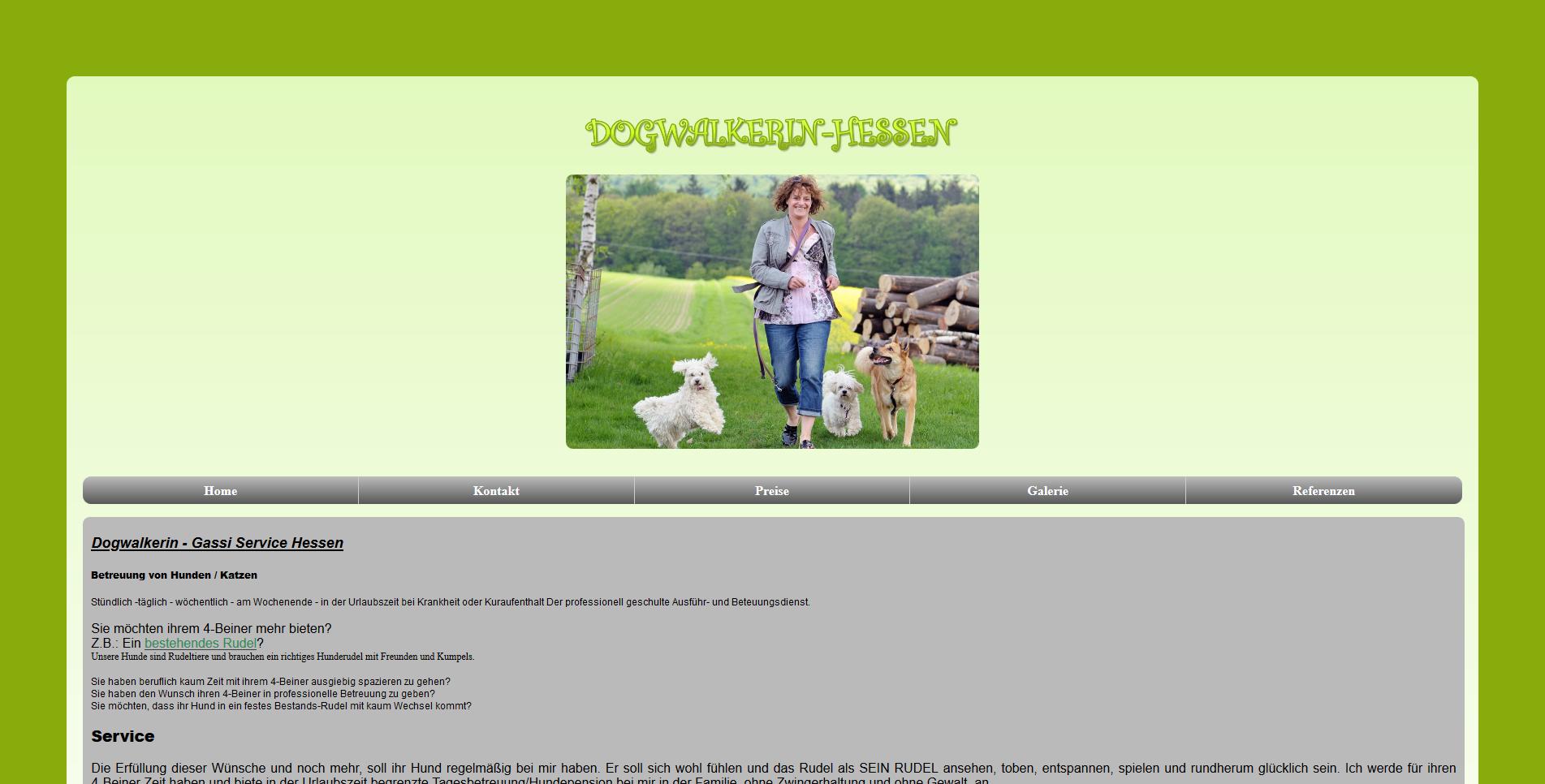 Dogwalkerin Hessen