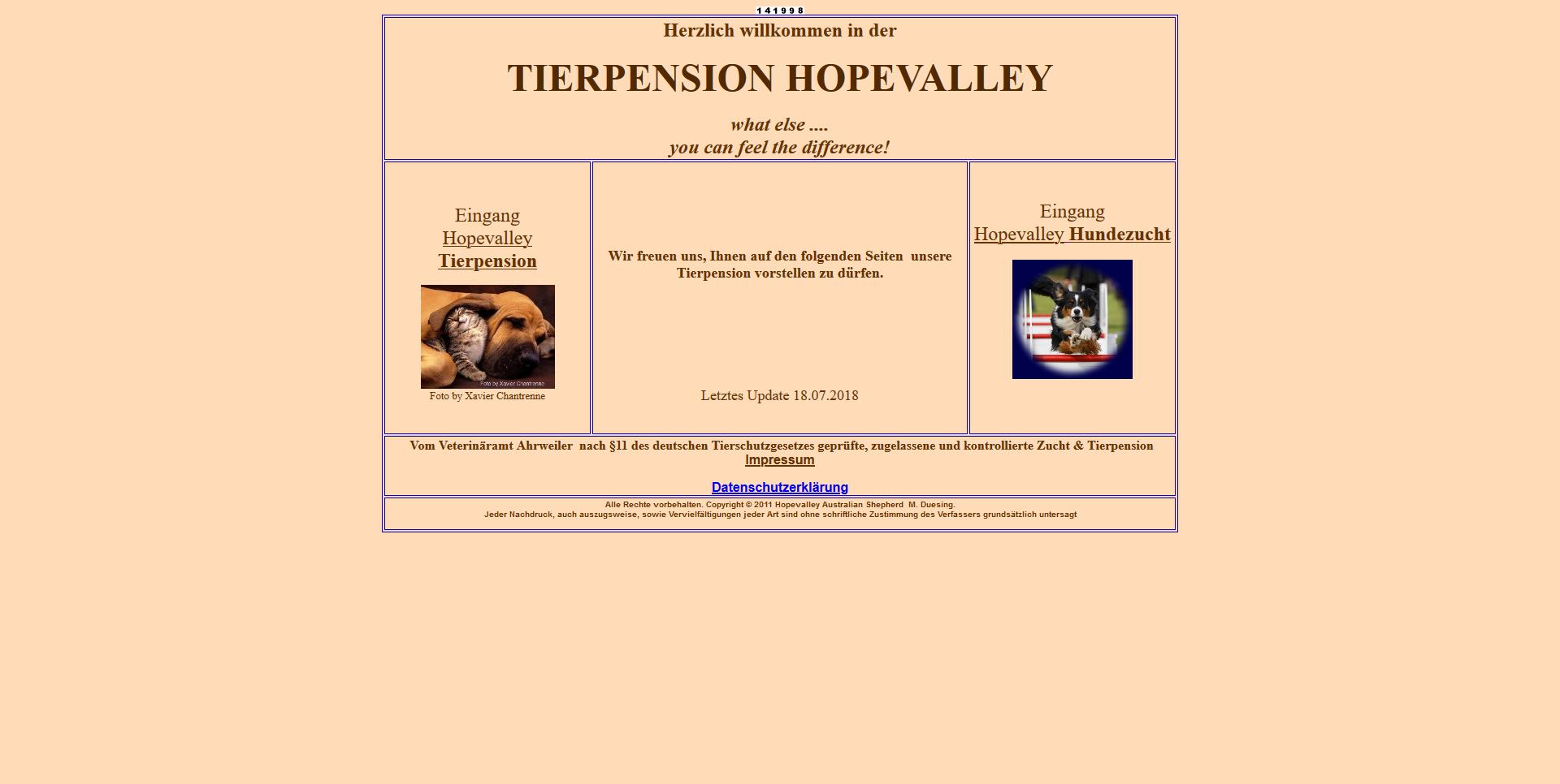 Hopevalley Tierpension