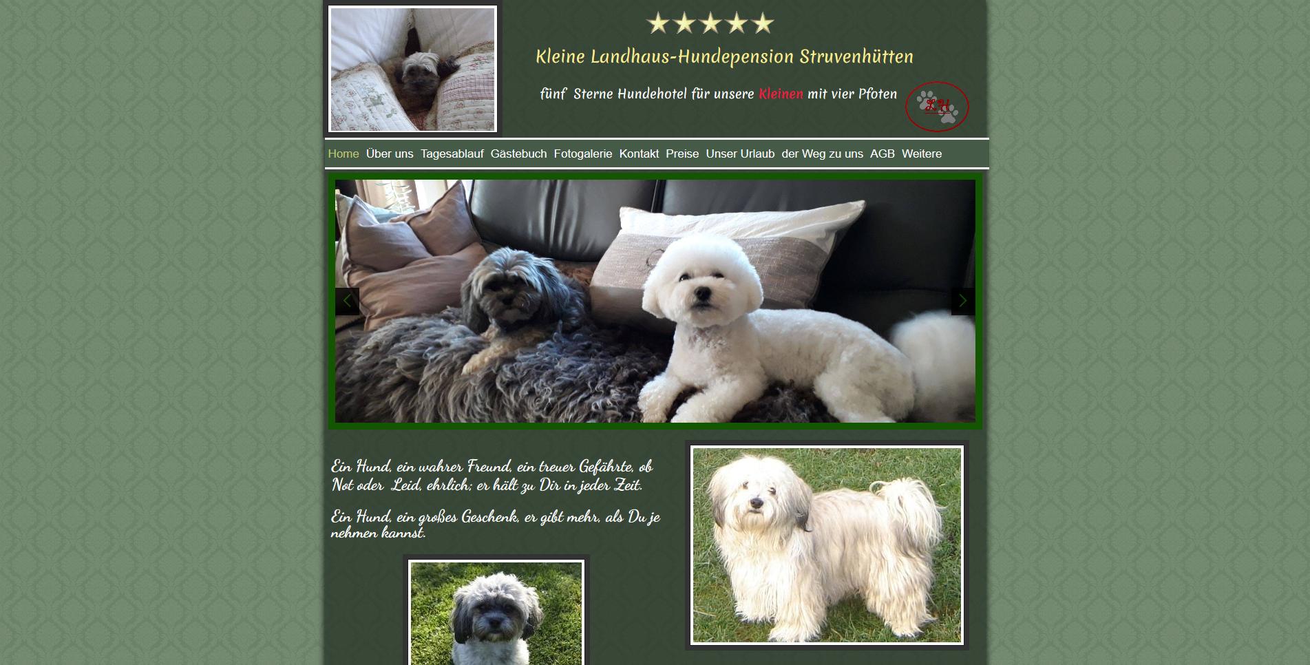 Kleine Landhaus-Hundepension