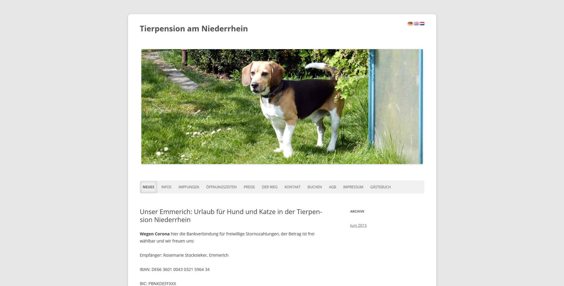 Tierpension Am Niederrhein