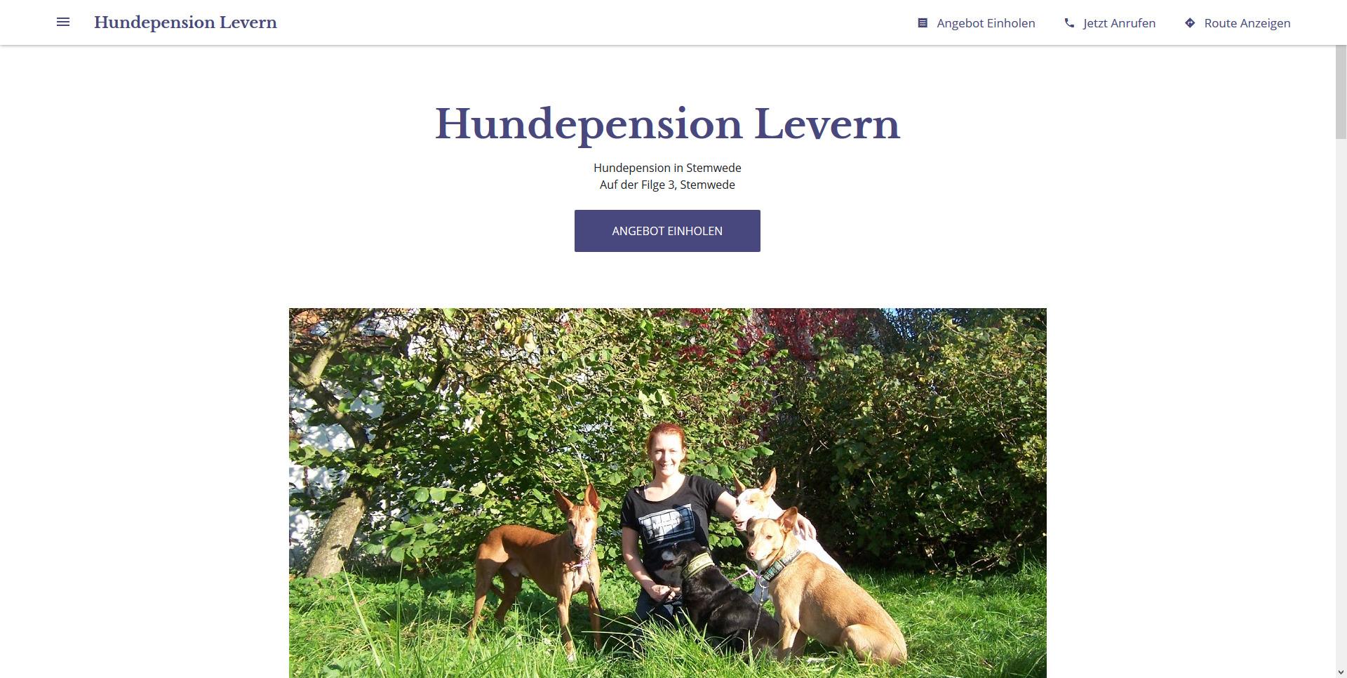 Hundepension Levern