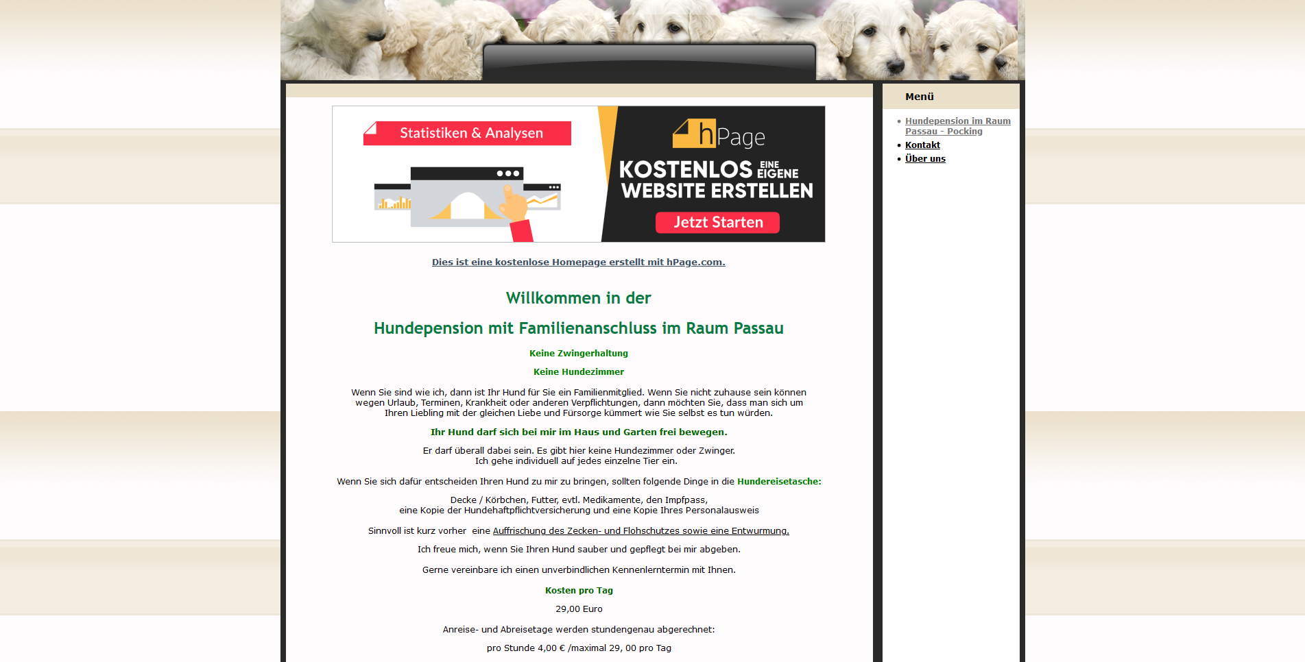 Hundepension Hundesitter Passau