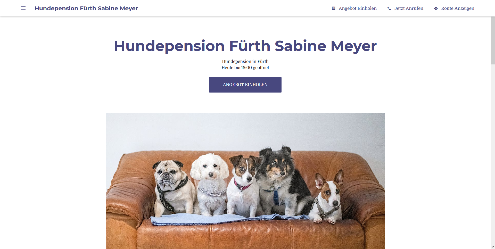 Hundepension Fürth Sabine Meyer