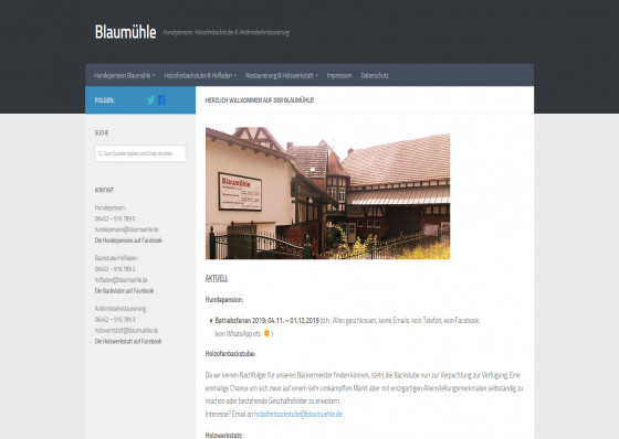 Hundepension Blaumühle